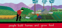 Vignette 4 - Titre : People build homes and grow food [s�rie