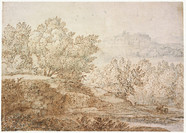 Claude Lorrain (Chamagne (Duche de Lorraine), 1604 - Rome, 1682), attribu 