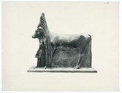 Épreuve typographique, [The Hathor-cow from the left side]