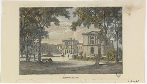Genève, la promenade des Bastions et l'université