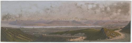 Vue des Alpes, de Genève et du Lac depuis la route de la Faucille