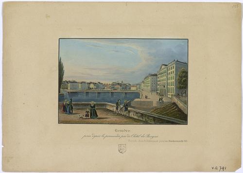 Genève, vue depuis le quai des Bergues