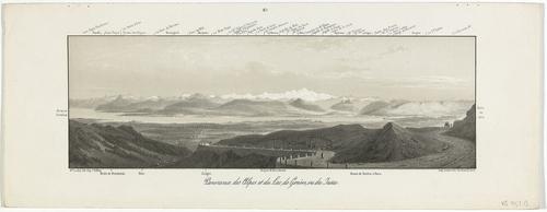 Vue des Alpes, de Genève et du Léman de la route de la Faucille