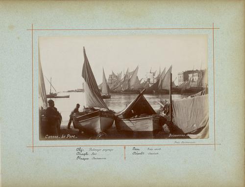 France, Cannes: le port (1885)