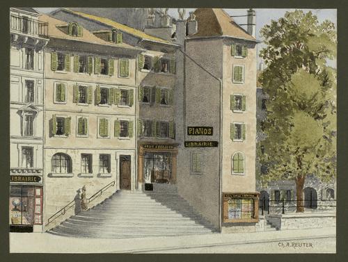 Genève, Corraterie: tour Thellusson
