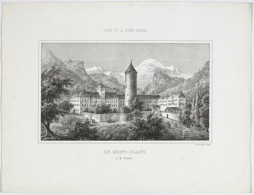 Le Mont Blanc vu de Faverges
