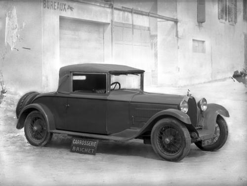 Automobile Bugatti carrossée par Brichet