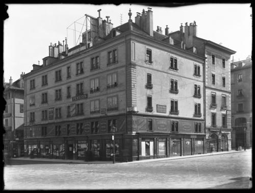 Genève, place Bel-Air, ancienne maison des Trois Rois