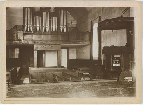 Vandoeuvres, temple: intérieur