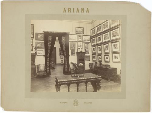 Genève, avenue de la Paix: musée de l'Ariana, vue intèrieur