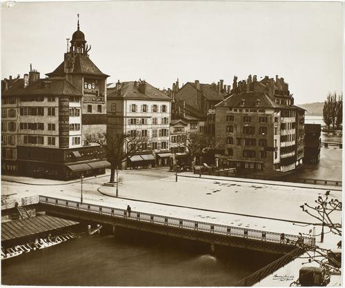 Genève, ponts de l'Ile sur le bras gauche du Rhône