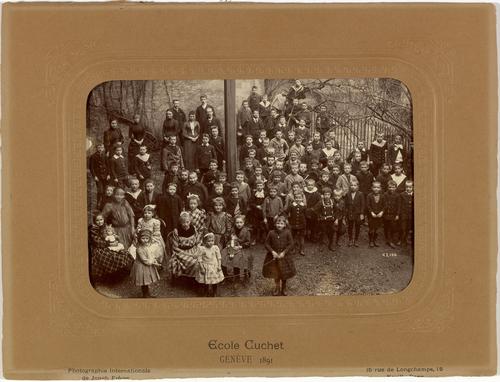Genève, rue de l'Evêché: école Cuchet