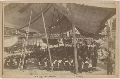 Genève, banquet dans le lit du Rhône