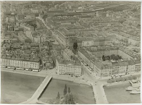 Genève, vue aérienne
