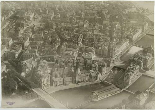 Genève, vue aérienne de Saint-Gervais avant la démolition du quartier du Seujet