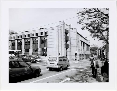 Genève, rue Ferdinand Hodler: l'extension du collège Calvin
