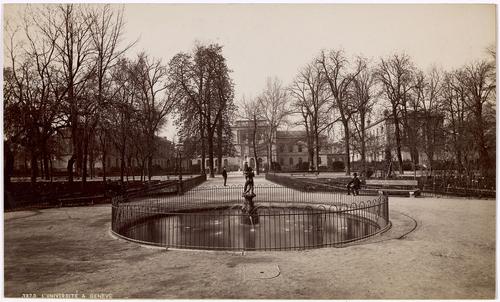 Genève, promenade des Bastions: fontaine du crocodile
