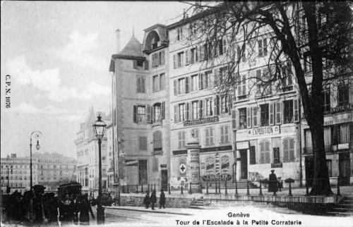 Genève, rue de la Corraterie: tour Thellusson