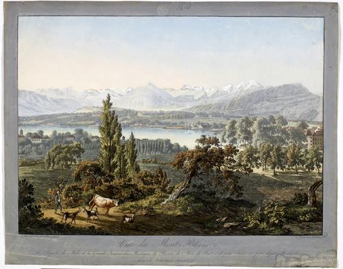 Vue de Genène prise de Montbrillant