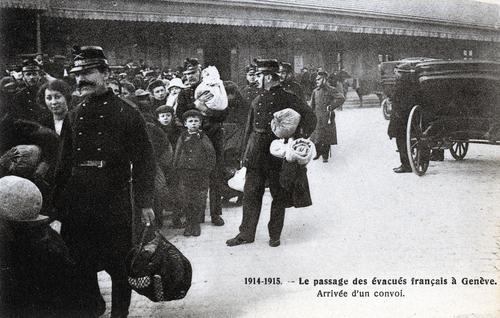 Genève, le passage des évacués français