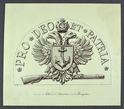 Genève, hôtel de l'Arquebuse et de la Navigation (armoiries)