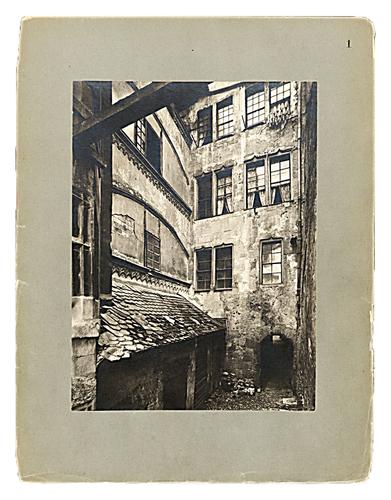 Genève, les anciennes maisons, première série, planche 1: maison à la rue du Marché