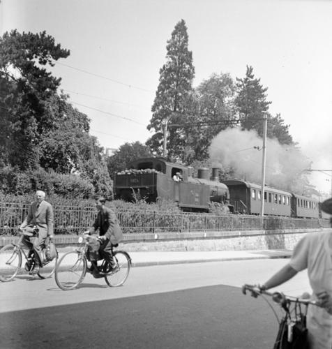 Genève, rue de Saint-Jean: ligne de chemin de fer Lyon-Genève