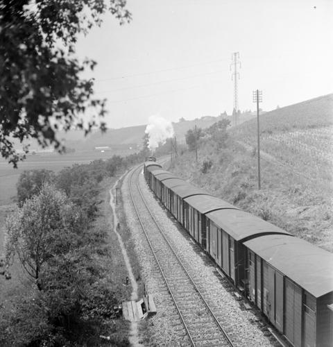Ligne Lyon-Genève (km 155,6), entre Russin et Satigny.