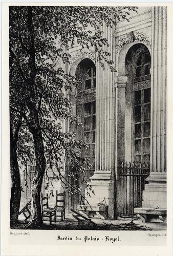 Paris, palais royal: jardins