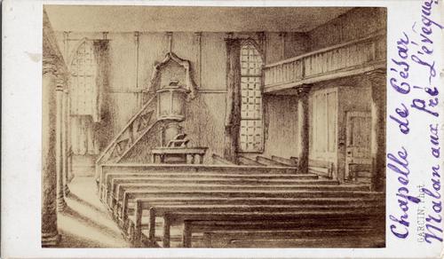 Genève, Pré-l'Evêque: vue intérieure de la chapelle de César Malan