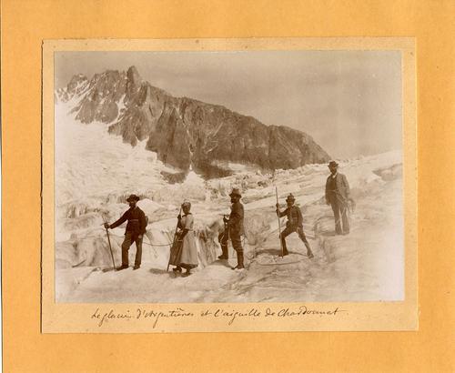 Haute-Savoie, Chamonix: le glacier d'Argentières et l'aiguille du Chardonnet