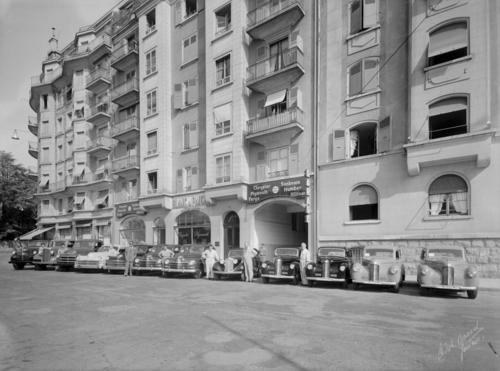 Genève, boulevard des Tranchées: garage Blanc et Paiche