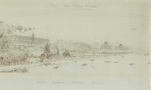 Genève, parc des Eaux-vives: projet pour la construction de villas, d'un hôtel, d'un casino, et de bains