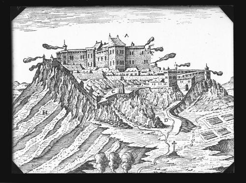 Haute-Savoie, les Allinges: combat au château (reproduction d'une gravure ancienne)