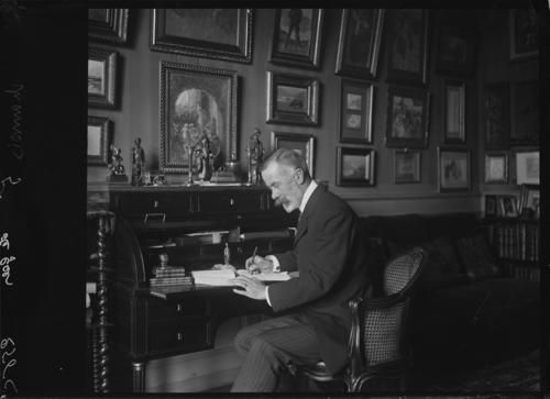 Genève, route de Malagnou: le baron Carl-Frédéric de Geer dans sa maison