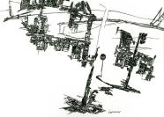 Vignette 1 - Titre : Espace courbe (Ecole des Arts décoratifs: L'ancien et le moderne)