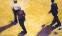 Vignette 1 - Titre : Joueurs de boules et parties de pétanque I