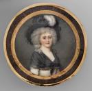 Bonbonnière avec miniature, Portrait de Madame Jacques-André Diodati, née Charlotte Pasteur (1762-1786)<br />Louis-Ami Arlaud (Genève, 13/10/1751 — Genève, 08/08/1829), miniaturiste, École suisse, genevoise