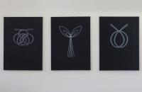 Vignette 1 - Titre : Mizuhiki (pensée), Mizuhiki (plante) et Mizuhiki (double cercle)