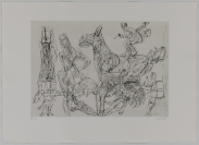 René Steiner, éditeur, Kupferdruckatelier Peter Kneubühler, Zürich, imprimeur, Martin Disler (Seewen, 1949 — Genève, 1996), artiste