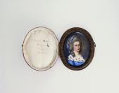 Petit portrait sur émail et son écrin, Marie Anne Rigaud, née Martin (1758-1836)<br />Louis-Ami Arlaud (Genève, 13/10/1751 — Genève, 08/08/1829), peintre sur émail