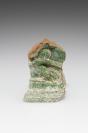 Carreau de poêle: carreau de corniche, fragment
