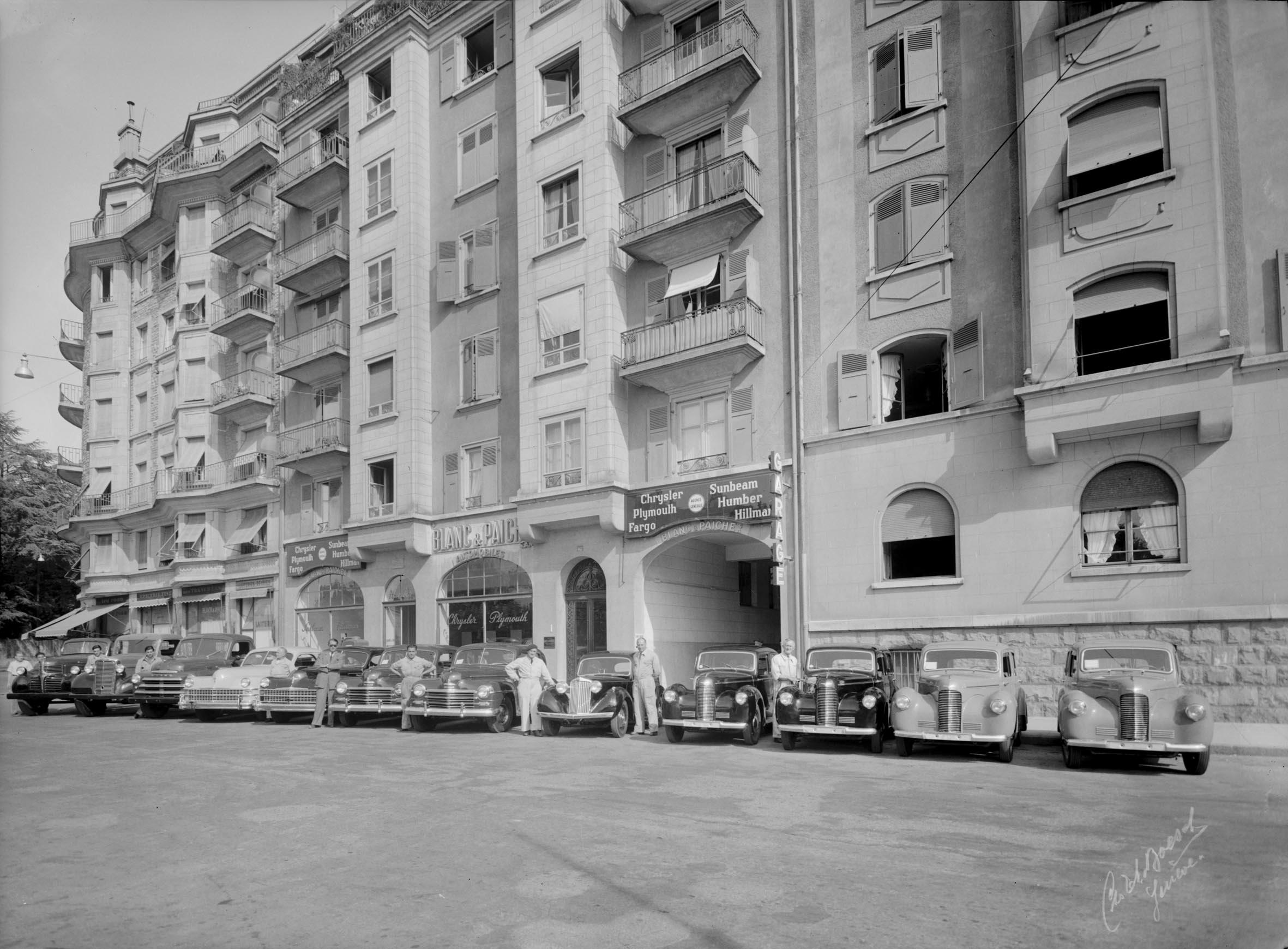 Genu00e8ve Boulevard Des Tranchu00e9es Garage Blanc Et Paiche - Notre Histoire