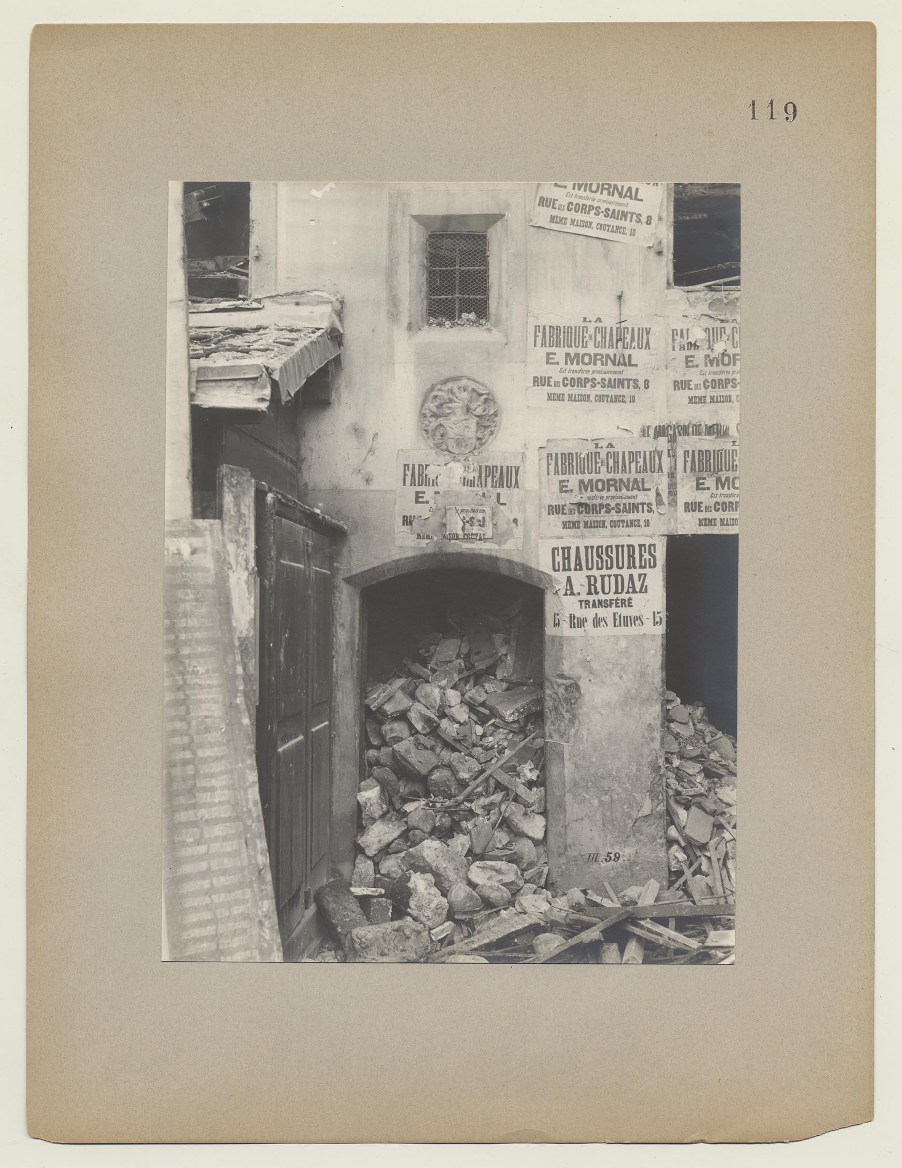 Gen Ve Les Anciennes Maisons Premi Re S Rie Planche 119  # La Place De Chaussure A La Maison