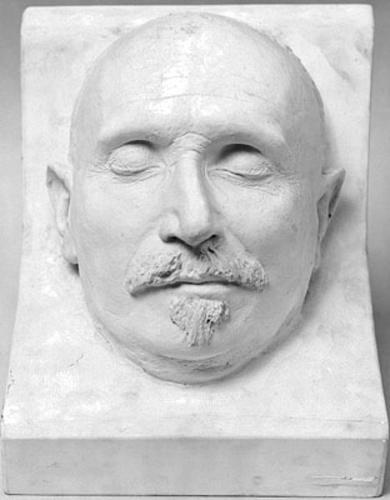 Masque mortuaire de Guglielmo Ferrero (1871-1942), historien, professeur à l'Université de Genève