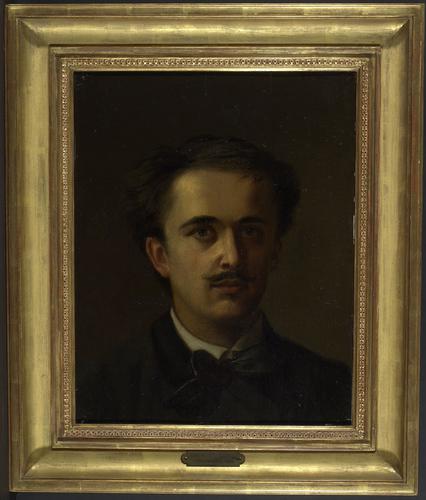 Autoportrait de Charles Giron (1850- 1914) , peintre genevois