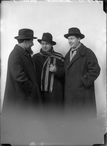 Portrait d'Ernest Ansermet, Arthur Honegger et Roland Manuel