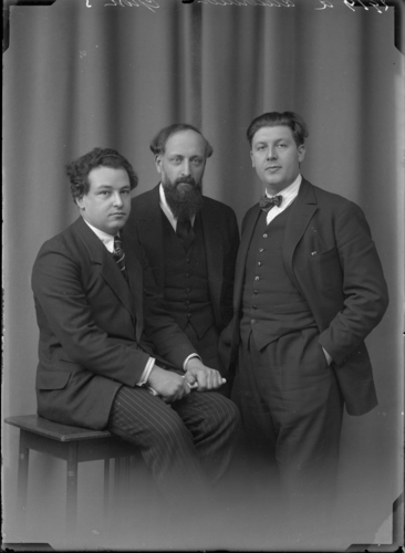 Portrait d'Arthur Honegger, Ernest Ansermet, Roland Manuel