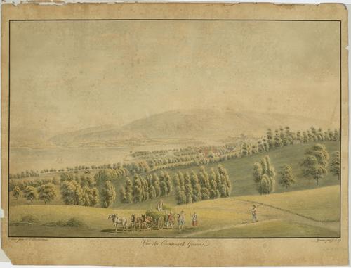 Genève, vue des environs prise de Pregny-Chambésy