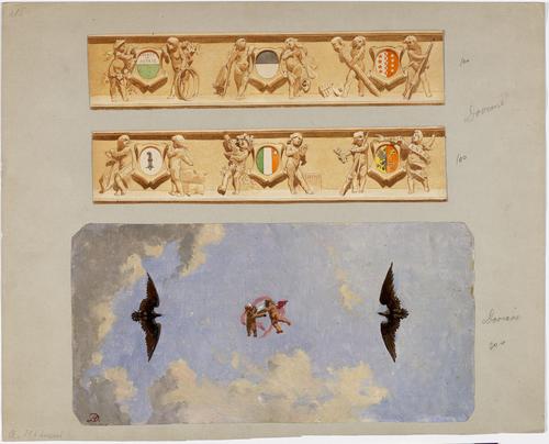 Genève, projet pour la décoration et pour un plafond du Kursaal, ancien casino